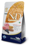 Farmina N&D Low Grain для взрослых кошек Lamb & Blueberry Adult