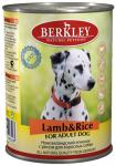 Berkley, консервы для собак с ягнёнком и рисом, 400 гр.