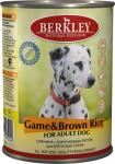 Berkley, консервы для собак с олениной и коричневым рисом, 400 гр.