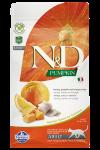 Farmina N&D беззерновой для взрослых кошек с сельдью, тыквой, апельсином.